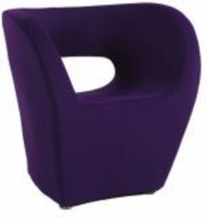 Chintaly Stationary Arm Fun Chair - Faux Cashmere Finish(2302) - PUP - 2302-ACC-PUP