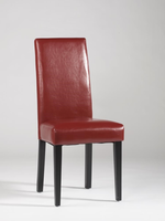 Chintaly Straight Back Parson Chair - Black Finish(STRAIGHT BACK PARSON) - RED - STRGT-BCK-PRS-SC-RED