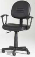 Chintaly Swivel Pneumatic Gas Lift Office Chair - Black - 3379-CCH