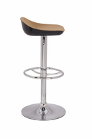 Chintaly Two Tones Backless Adjustable Stool - Black/Chrome - 0324-AS-CML