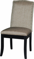 Chintaly Upholstered Back Side Chair - Matt Black - MACY-PRS-SC