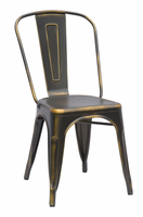 Chintaly Vintage Galvanized Steel Side Chair - Anitique Copper - 8022-SC-ATQ-GLD