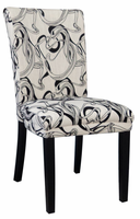 Chintaly Wide Back Parson Side Chair - Satin Black - MISTY-PRS-SC