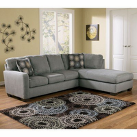 CLEARANCE!! ASHLEY FURNITURE Zella - Charcoal Right Facing Chaise Sectional