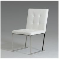 Click - Modern White Leatherette Dining Chair (Set of 2)