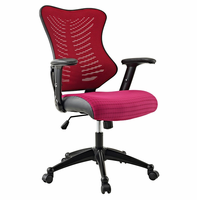 Clutch Office Chair, Burgundy [FREE SHIPPING]