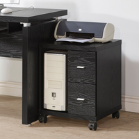 Coaster Furniture 800822 - 2 Drawers Computer Stand (Black)
