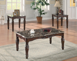 Coaster Furniture 701554 - 3pc Occasional Set (Rich Cherry)