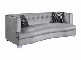 COASTER 505881 SILVER FABRIC LOVE SEAT CALDWELL COLLECTION