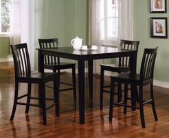 Coaster Furniture 150231BLK - 5 PC Set, Table (Black)