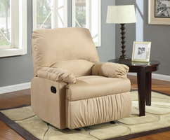 Coaster Furniture 600264G - Glider Recliner (Light Brown)