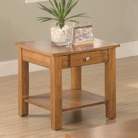 Coaster Furniture 701437 - End Table (Oak)