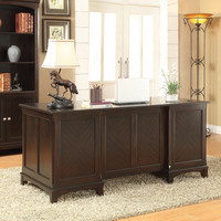 Coaster Furniture 801012 - Garson Desk (Cappuccino)