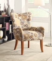 Coaster Furniture 902052 - Accent Chair (Swirl Pattern)