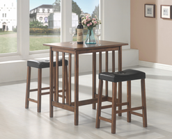 Coaster Furniture 130004 - 3 PC Set, Table (Nut Brown)