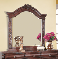 Coaster Furniture 202204 - Grand Prado Mirror (Brown Cherry)