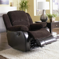 Coaster Furniture 600363R - Johanna Glider Recliner (Chocolate)