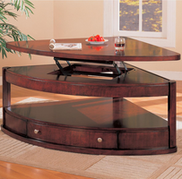 Coaster Furniture 700246 - Pie Shaped Table (Cherry)