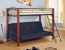 Coaster Furniture 2249 - Twin/Futon Bunk Bed (Warm Medium)