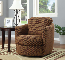 Coaster Furniture 900405 - Swivel Chair (Diamond Pattern)