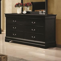 Coaster Furniture 203963 - Louis Philippe Dresser (Black)