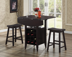Coaster Furniture 150100 - 3 PC Set, Table (Dark Brown)