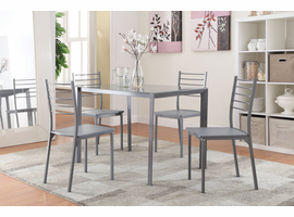 Coaster Furniture - 100027 - 5PC DINING SET (GREY) Table & 4 Chairs