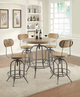 Coaster Furniture - 100057 - ADJUSTABLE BAR STOOL (WEATHERED BROWN/GRAPHITE) Set of 2 Free Delivery