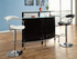 Glass Top Bar Table Unit Black