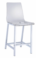Coaster Furniture - 100265 - COUNTER HEIGHT STOOL (CLEAR)