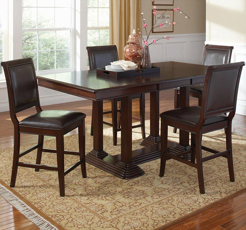 Coaster Furniture 101978   Sullivan Counter Height Table (Brown Cherry)