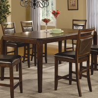 Coaster Furniture 102168 - Lenox Counter Height Table (Medium Brown)
