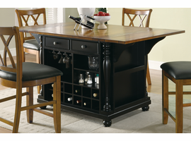 Coaster Furniture - 102270 - KITCHEN ISLAND (BLACK/BROWN)