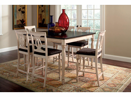 Coaster Furniture 103589 - Camille Counter Height Table (Antique White/Merlot) - Set of 2