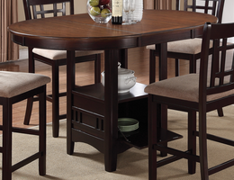 Coaster Furniture - 105278 - COUNTER HEIGHT TABLE (LIGHT CHESTNUT/ESPRESSO)