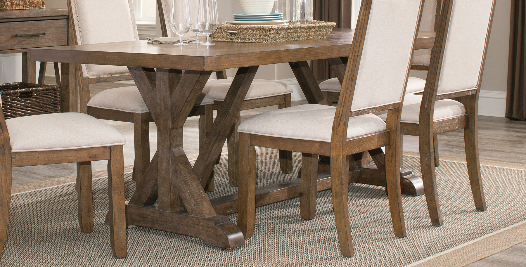 Coaster furniture 105521 dining table weathered acacia