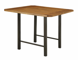 Coaster Furniture - 121608 - COUNTER HEIGH TABLE (WIRE BRUSHED OAK/MATTE BLACK)