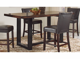 Coaster Furniture - 121648 - COUNTER HEIGH TABLE (VINTAGE BROWN/BLACK)