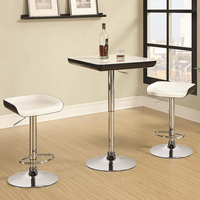 Coaster Furniture 122100 - 3 Piece Bar Table Set (White/Black)
