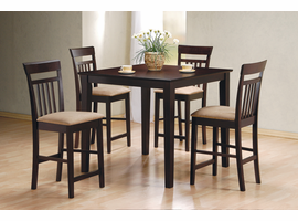 Coaster Furniture 150041 - 5 PC Set, Table (Cappuccino)