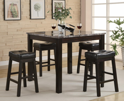 Coaster Furniture 150094 - Sofie 5 PC Set, Table (Cappuccino)