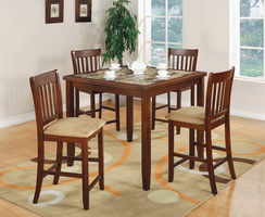 Coaster Furniture 150154 - 5PC Set, Table (Cherry)
