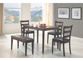 Coaster Furniture 150232 - 5 PC Set, Table (Deep Cappuccino)