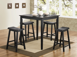 Coaster Furniture 150291N - 5 PC Set, Table (Black)