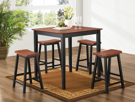 Coaster Furniture 150293N - 5 PC Set, Table (Oak/Black)