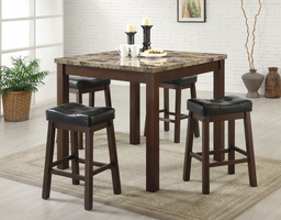 Coaster Furniture 150302 - Sofie 5 PC Set, Table (Dark Cherry)