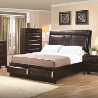 Coaster Furniture 200419KE - Phoenix Eastern King Size Bed (Deep Cappuccino)