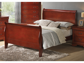 Coaster Furniture 200431Q - Louis Philippe Queen Bed (Cherry)