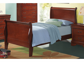 Coaster Furniture 200431T - Louis Philippe Twin Bed (Cherry)