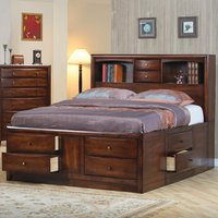 Coaster Furniture 200609KW - Hillary California King Size Storage Bed (Warm Brown)